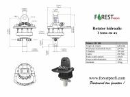 Rotator hidraulic 1 tona cu ax