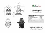 Rotator hidraulic 10 tone cu flansa FW