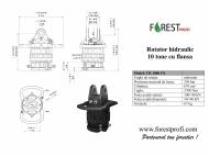 Rotator hidraulic 10 tone cu flansa FX