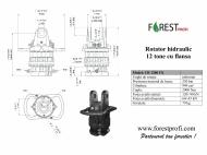 Rotator hidraulic 12 tone cu flansa FX