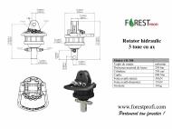 Rotator hidraulic 3 tone cu ax