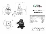 Rotator hidraulic 3 tone cu flansa