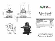 Rotator hidraulic 4 tone cu flansa