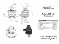 Rotator hidraulic 5 tone cu ax