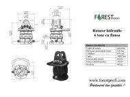 Rotator hidraulic 6 tone cu flansa FW