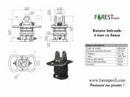 Rotator hidraulic 6 tone cu flansa FX