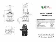 Rotator hidraulic 8 tone cu flansa FW