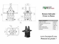 Rotator hidraulic 8 tone cu flansa FX