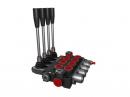 Distribuitor hidraulic monobloc dublu efect 4 sectiuni 40 l/min