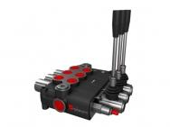 Distribuitor hidraulic monobloc dublu efect 3 sectiuni 120 l/min