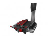 Distribuitor hidraulic monobloc dublu efect 4 sectiuni 80 l/min
