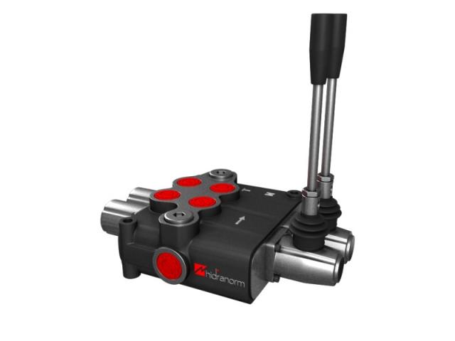 Distribuitor hidraulic monobloc dublu efect 2 sectiuni 120 l/min