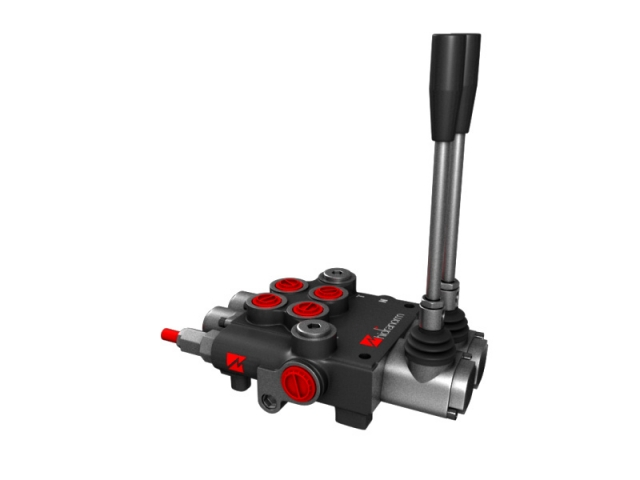 Distribuitor hidraulic monobloc dublu efect 2 sectiuni 80 l/min