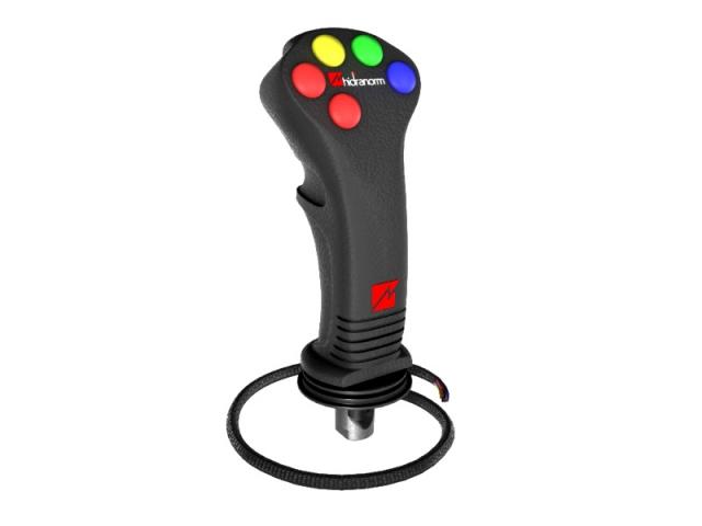 Joystick 5 comenzi electrice pentru distribuitor hidraulic
