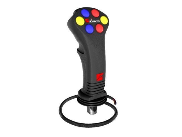 Joystick 6 comenzi electrice pentru distribuitor hidraulic